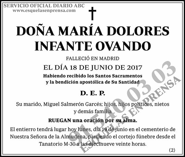 María Dolores Infante Ovando